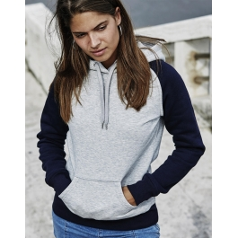 Sweat-shirt Femme Bicolore avec Capuche Tee Jays 5433