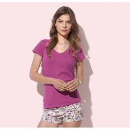 T-shirt Col V Femme Claire Stedman ST9710