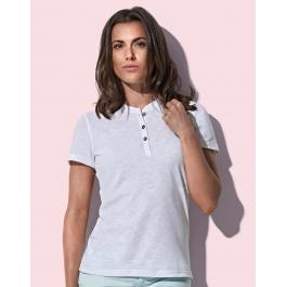 T-shirt Col Tunisien Femme Sharon Stedman ST9530