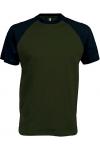 "T-Shirt Bicolore Manches Courtes ""Base Ball"" Kariban K330"