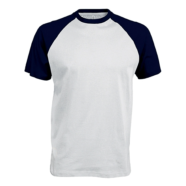 "T-Shirt Bicolore Manches Courtes ""Base Ball"" Kariban K330"
