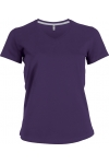 T-Shirt Col V Manches Courtes Femme Kariban K381