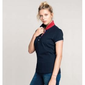 Polo Manches Courtes Up-Collar Femme Kariban K252