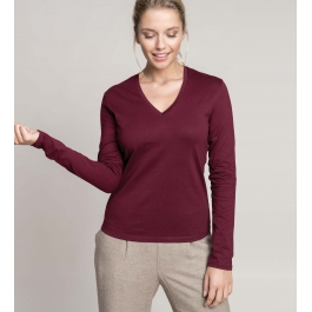 T-Shirt Col V Manches Longues Femme Kariban K382