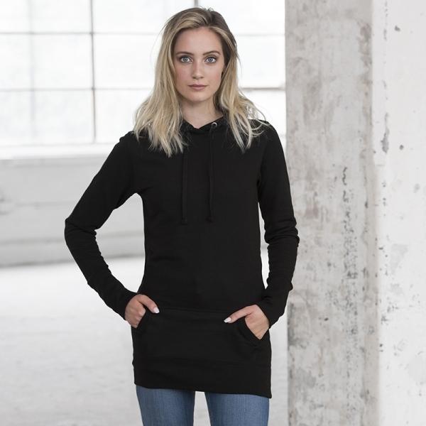 Sweat-shirt à capuche long Girlie AWDis JH005