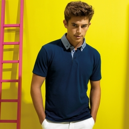 Polo homme avec Col en Chambray Asquith & Fox AQ007