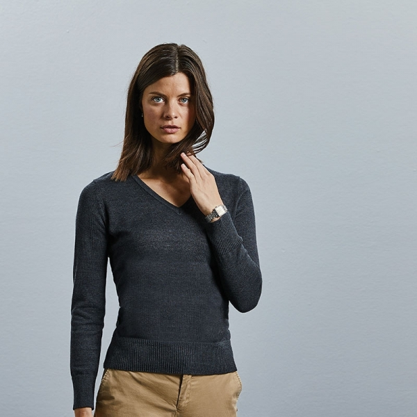 Pullover Femme Col V Russell 710F