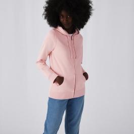 Organic Zipped Hooded Women Sweat B&C WU36B