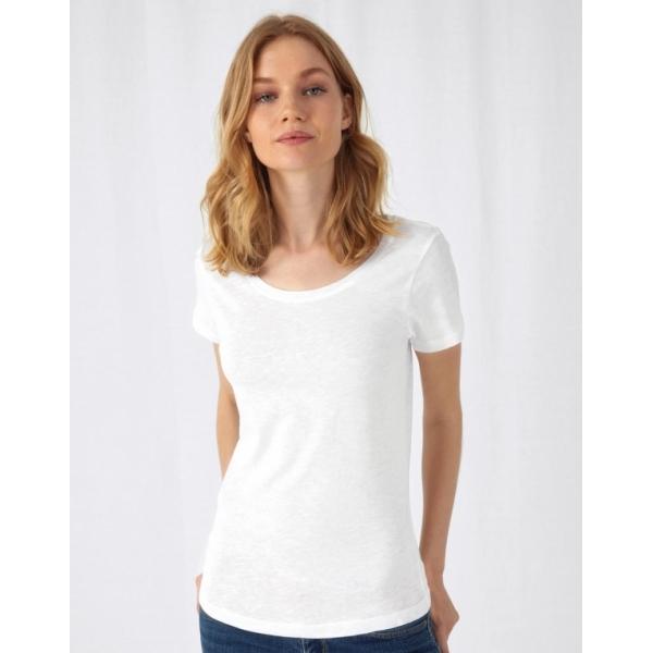 T-shirt femme B&C Organic Slub