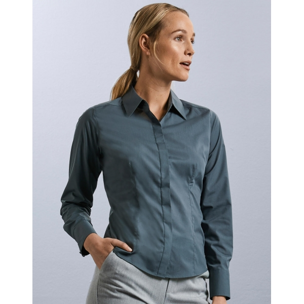Chemise Femme En Popeline Manches Longues Russell R-924F-0