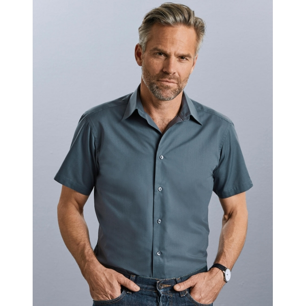 Chemise En Popeline Manches Courtes Russell R-925M-0