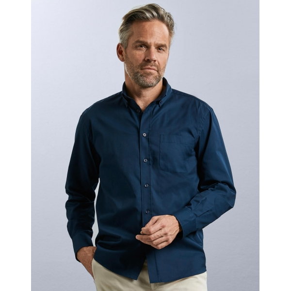 Chemise En Twill Manches Longues Russell R-916M-0