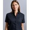 Chemisier Femme Manches Courtes En Popeline 100% Coton Russell R-937F-0