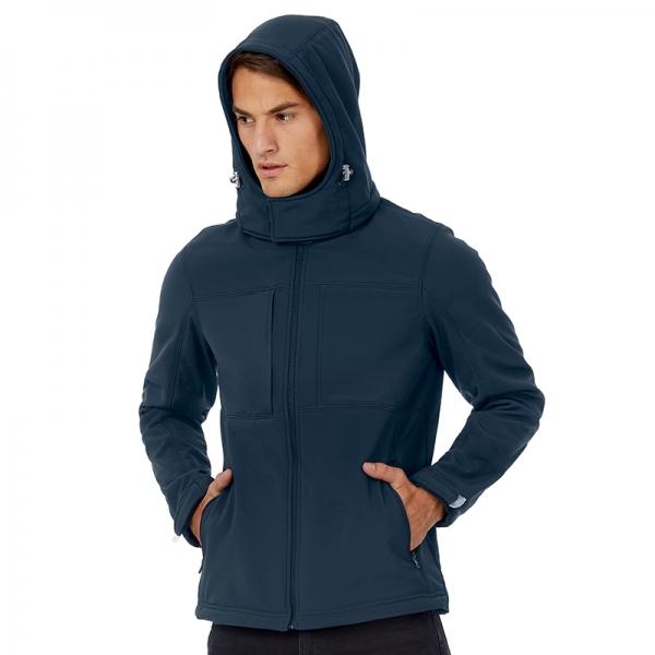 Veste softshell homme à capuche B&C JM950
