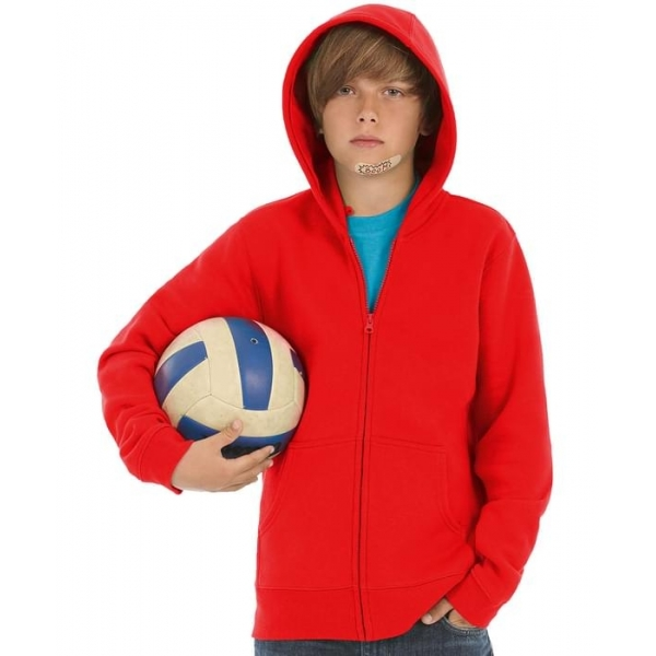 Sweat-shirt enfant capuche zippé B&C Hooded Full Zip Kids WK682