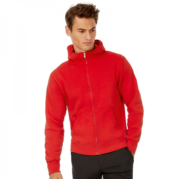 Sweat-shirt Capuche B&C Hooded Full Zip Men