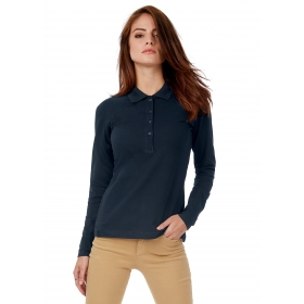 Polo femme manches longues B&C Safran Pure LSL B&C Collection PW456