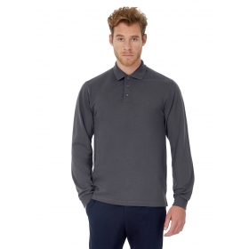 Polo homme manches longues B&C Heavymill LSL PU423 B&C Collection PU423