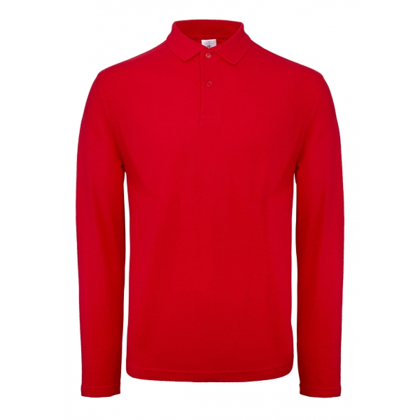 Polo homme M. longues B&C ID.001 PUI12