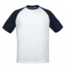 T-shirt bicolore B&C Base-ball Tee TU020