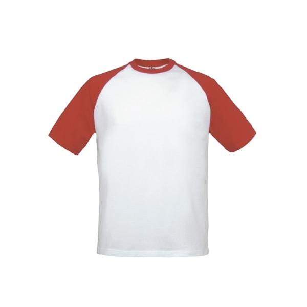 T-shirt bicolore B&C Base-ball Tee TU020