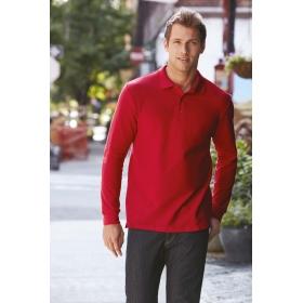 Polo manches longues en double piqué Premium Cotton Gildan 85900