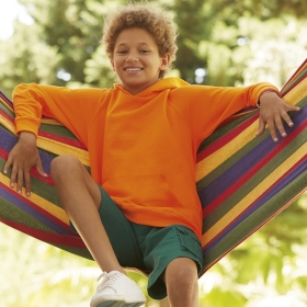 Lightweight Hooded Sweat Kids Fruit of the Loom 62-009-0