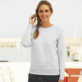 Lightweight Raglan Sweat Lady-Fit Fruit of the Loom 62-146-0