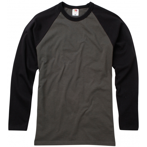 Valueweight Long Sleeve Baseball T Fruit of the Loom 61-028-0