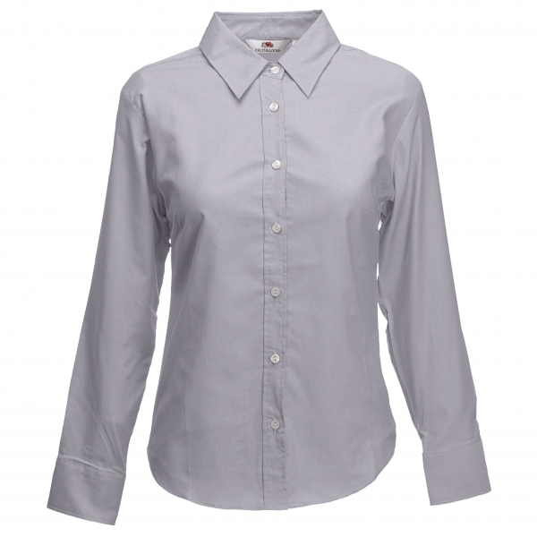 Oxford Shirt Long Sleeve Lady-Fit Fruit of the Loom 65-002-0