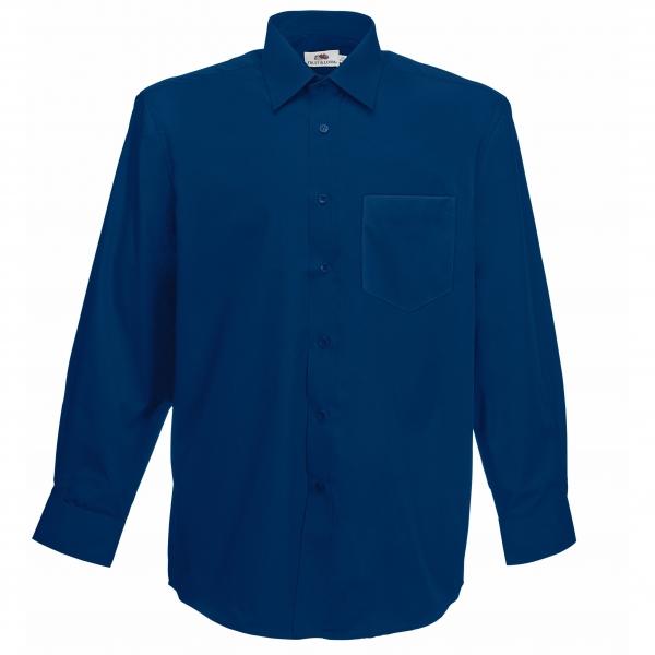 Poplin Shirt Long Sleeve Fruit of the Loom 65-118-0