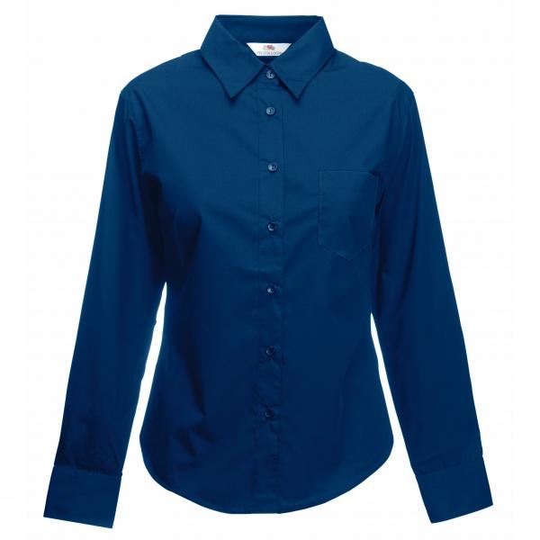 Poplin Shirt Long Sleeve Lady-Fit Fruit of the Loom 65-012-0