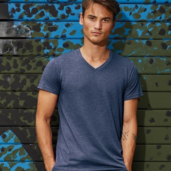 T-shirt homme Col V en Triblend B&C