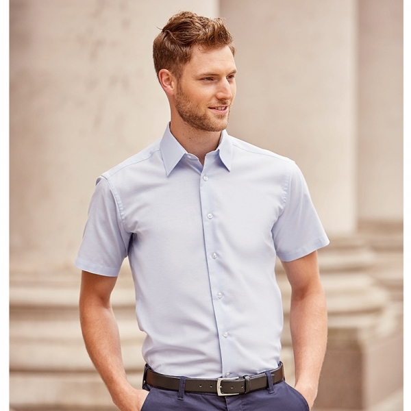 Chemise Manches Courtes En Oxford Russell R-923M-0