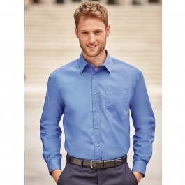Chemise Manches Longues En Popeline Russell R-936M-0