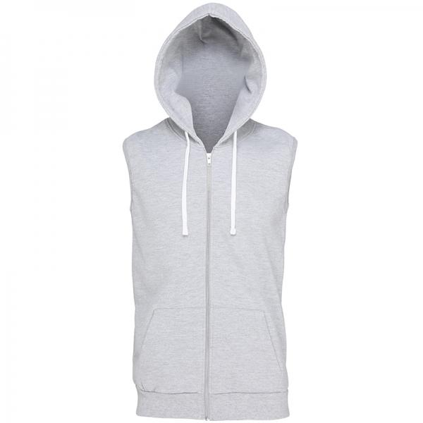 Sweat à capuche zippé sans manches AWDis JH057