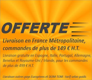Livraison offerte à partir de 149 € HT en France métropolitaine